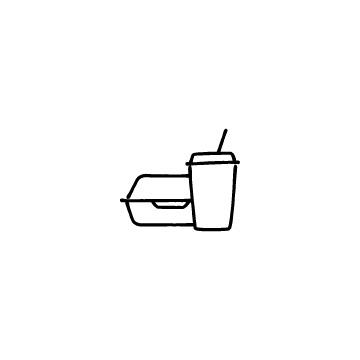 テイクアウト容器とドリンクカップのアイコン
