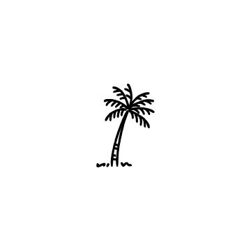 ヤシの木のアイコンのアイキャッチ用画像