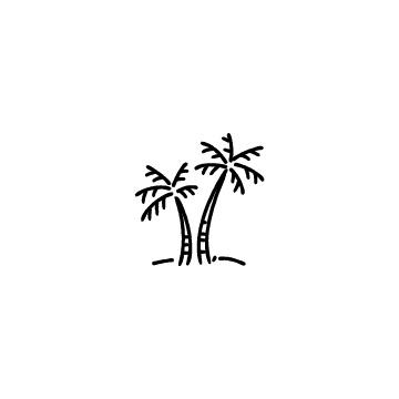ヤシの木のアイコン2