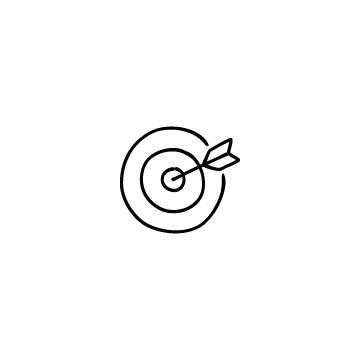 的と矢のアイコンのアイキャッチ用画像