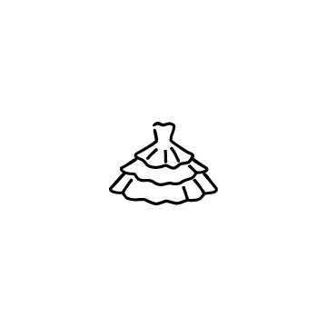 ウェディングドレスのアイコン