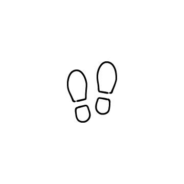 靴の足跡のアイコンのアイキャッチ用画像