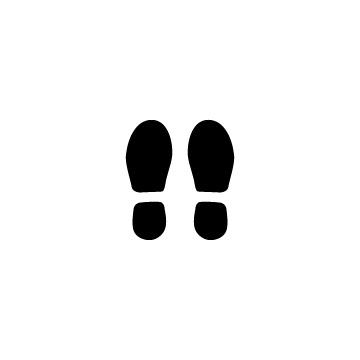 靴の足跡シルエットのアイコン