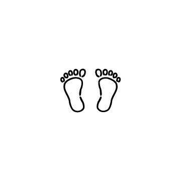 子供の足跡のアイコン
