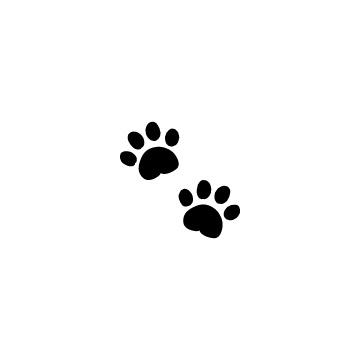 動物の足跡シルエットのアイコン