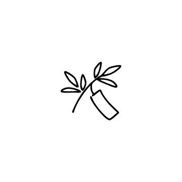 七夕の笹と短冊のアイコンのアイキャッチ用画像