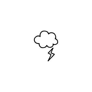 雷と雲のアイコン1