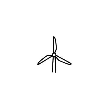 風力発電のアイコンのアイキャッチ用画像