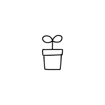 植物の芽と植木鉢のアイコン