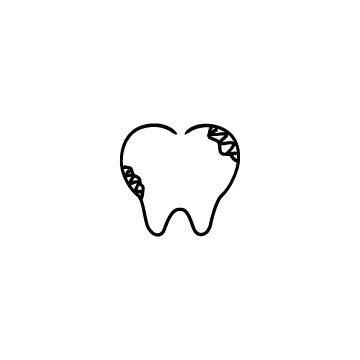 虫歯のアイコン
