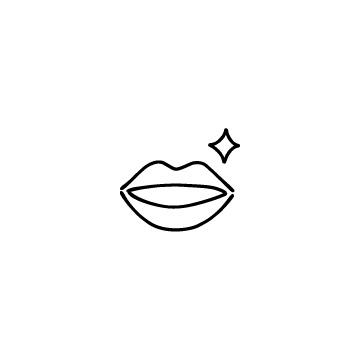 綺麗な口のアイコン