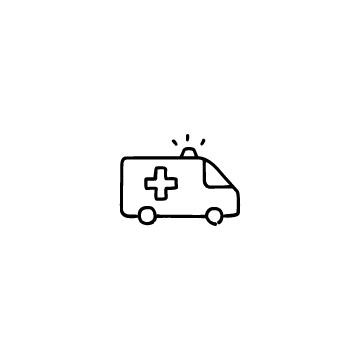 救急車のアイコンのアイキャッチ用画像