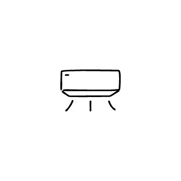 エアコンのアイコンのアイキャッチ用画像