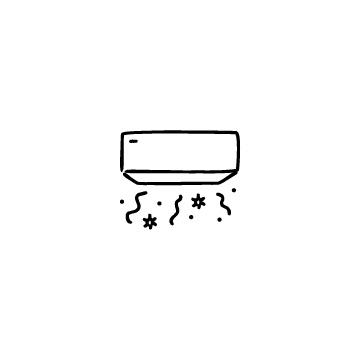 汚れたエアコンのアイコンのアイキャッチ用画像