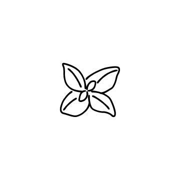 ミントの葉のアイコン
