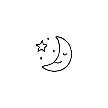 寝ている月のアイコン
