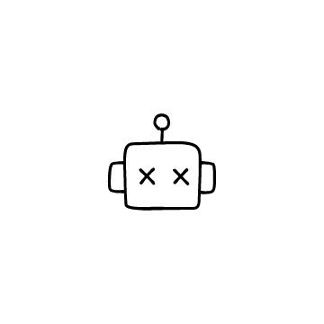 困り顔のチャットボットのアイコン