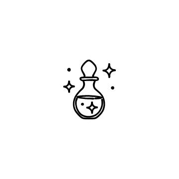 魔法の薬瓶のアイコン