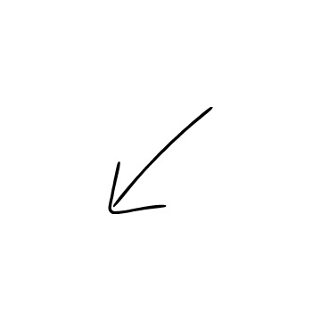 斜め左下矢印のアイコンのアイキャッチ用画像