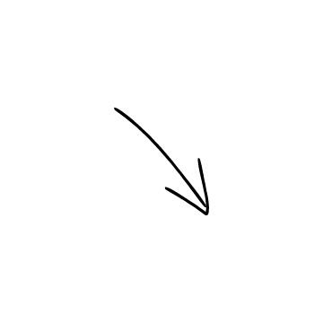斜め右下矢印のアイコンのアイキャッチ用画像