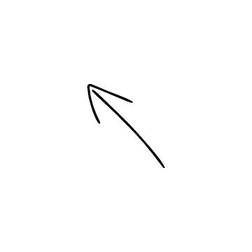 斜め左上矢印のアイコンのアイキャッチ用画像