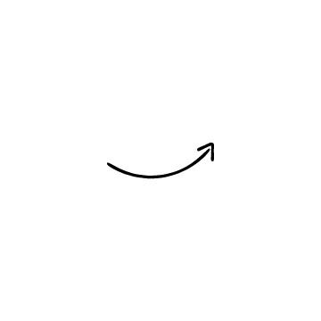カーブした上向き矢印のアイコンのアイキャッチ用画像
