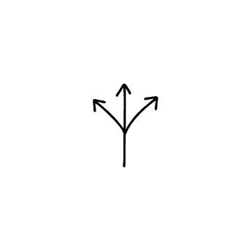 3方向矢印のアイコンのアイキャッチ用画像