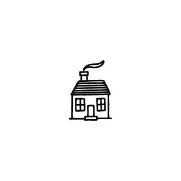 煙突のある家のアイコンのアイキャッチ用画像