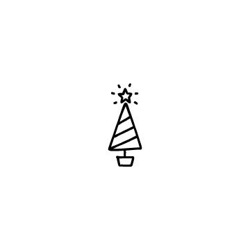 クリスマスツリーのアイコンのアイキャッチ用画像
